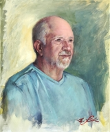 "<h5><em>Jim Moore</em> <strong>•</strong> 20"" x 24""oil on canvas</h5>"