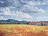 "<h5><em>Moran Road, Franklin, TN</em> <strong>•</strong> 40"" x 30"" oil on canvas <strong>•</strong> $1,500</h5>"