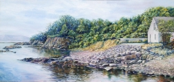 "<h5><em>Loch Lochy in Northern Scotland</em> <strong>•</strong> 48"" x 24"" oil on canvas</h5>"