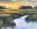 "<h5><em>North Florida Sunset</em> <strong>•</strong> 16"" x 20"" oil on canvas</h5>"