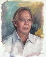 """<h5><em>Dr. George Tuttle</em> <strong>•</strong> 20"""" x 24"""" oil on linen</h5>"""